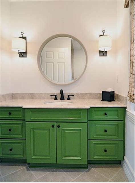green bathroom cabinets be inspired to paint your bathroom vanity a non neutral color