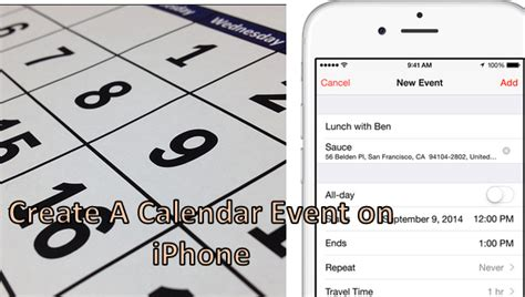 how to make a calendar app iphone how do i create an event in the calendar app on my iphone