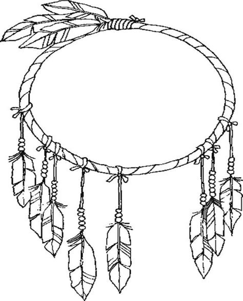 dreamcatcher template free coloring pages of catcher