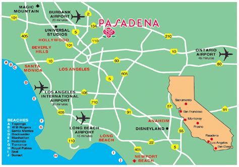 california map of airports map of us airports my