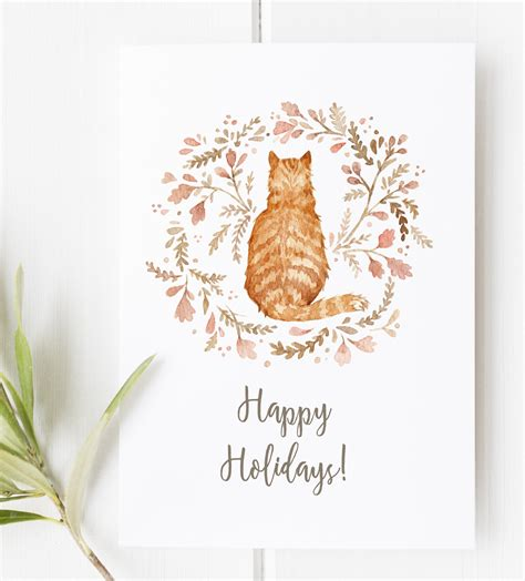 printable christmas cards cat last minute diy free printable gift tags stickers