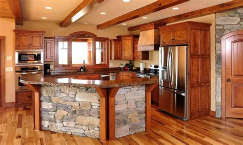 Home Design Photos Interior Mullet Cabinet Rustic Kitchen Cabinets In Timber Frame Home