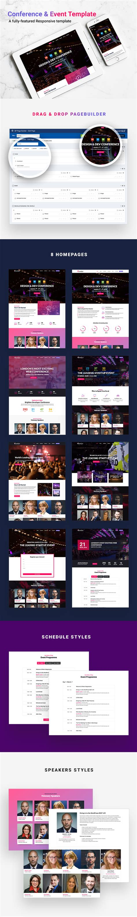 eventor conference event joomla template by tripples