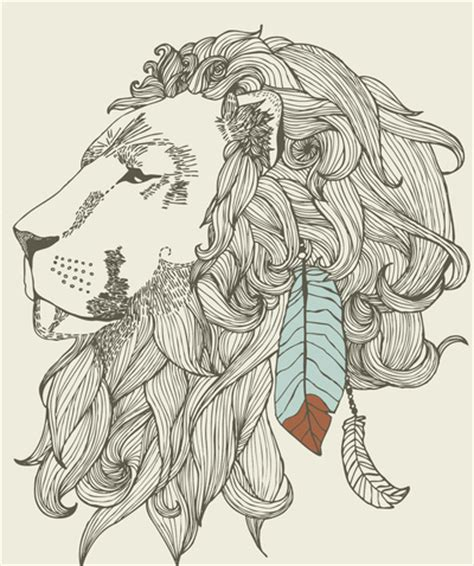 indian lion tattoo design feather indian image 430298 on