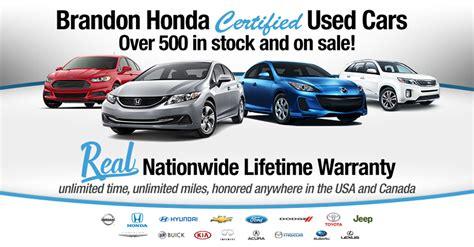 Honda Certified Warranty by Certified Pre Owned Car For Sale Near Ta Brandon