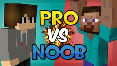 minecraft pro vs noob