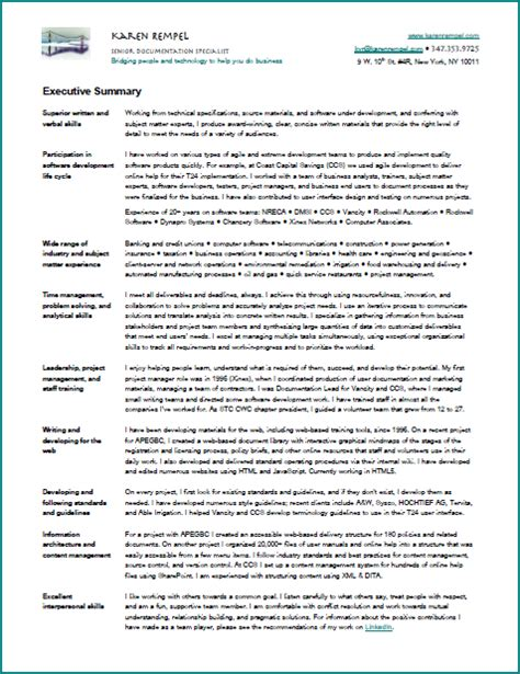 technical summary resume resume rempel new york technical writer