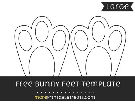 bunny feet template large