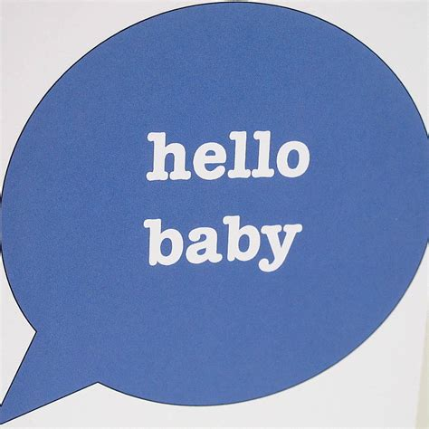 hello baby hello baby new baby boy card by edamay notonthehighstreet com