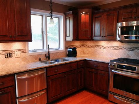 kitchen cabinets and backsplash download kitchen backsplash cherry cabinets gen4congress