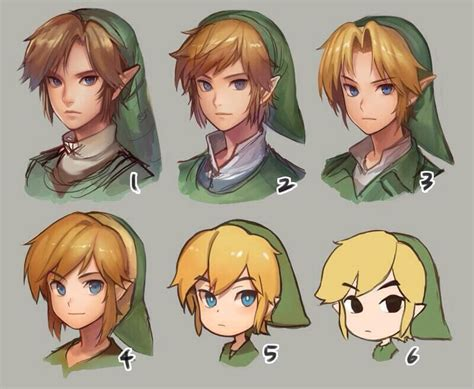 zelda link with black hair evolution if link game fan art pinterest evolution