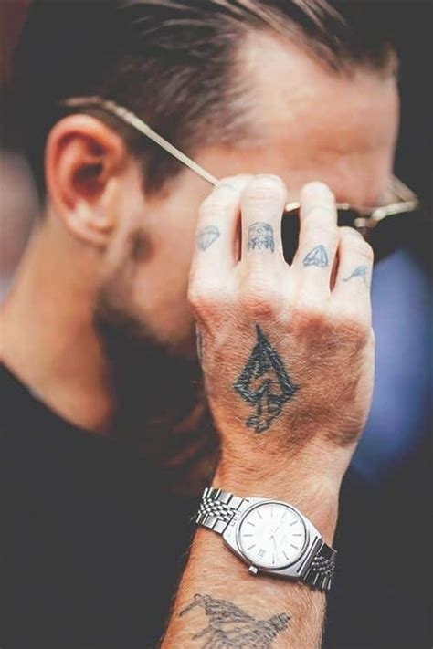 finger tattoos for men design ideas for guys