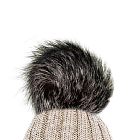 New Fluffy new fluffy coloured faux fur detachable pom pom for winter