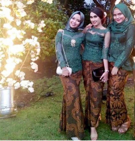 Baju Seragam Nikah inspirasi kebaya seragam untuk pesta pengantin terlihat