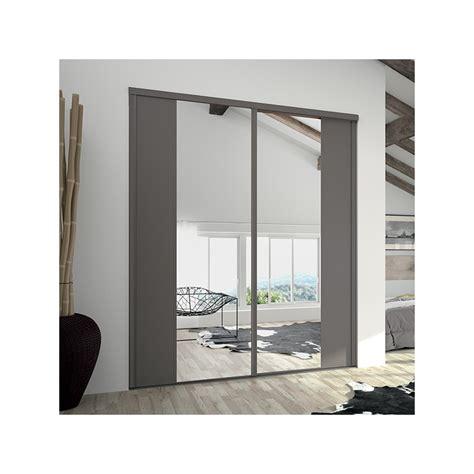 portes de placard coulissantes kontrast miroir argent et