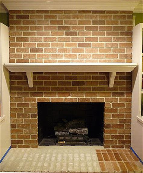 faux paint brick fireplace remodelaholic faux painted brick white fireplace
