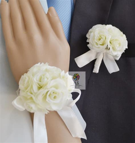 Handmade Wrist Corsage - handmade wedding corsages groom boutonniere