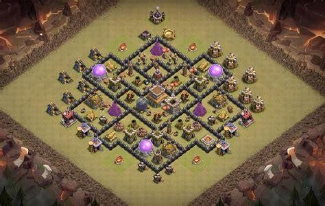coc base 7th hd image dawnload 8 epic th8 war base trophy farming base layouts 2018