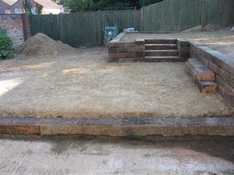 Cutting Railway Sleepers by All Gardens Great Small Railway Sleepers Hoblands Project