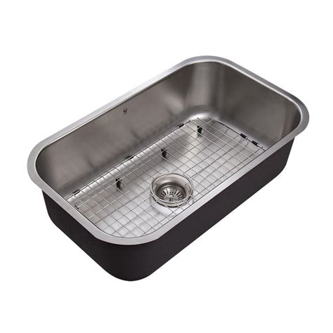 stainless steel single bowl kitchen sinks vigo undermount stainless steel 30 in single bowl kitchen sink vg3019c the home depot