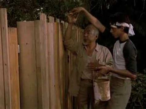 karate kid lesson 4 paint the fence
