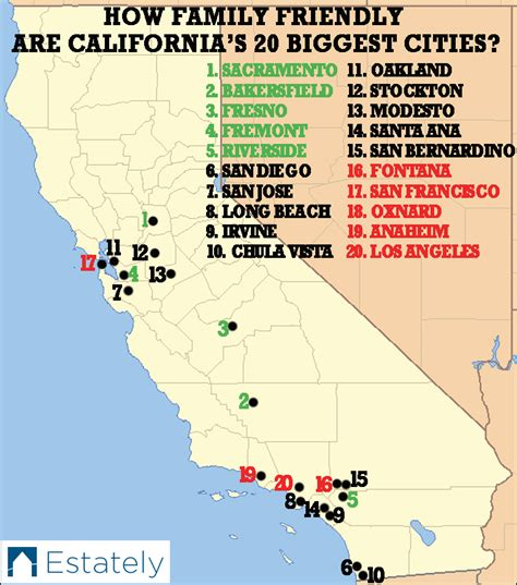 california cost of living map this map shows why the plan how family friendly are california s 20 biggest cities