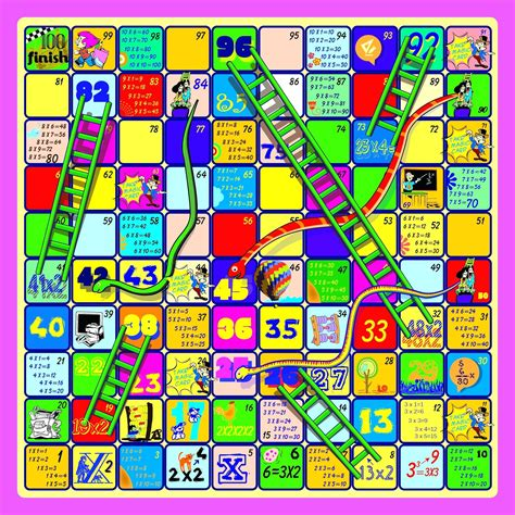 chutes and ladders board template chutes and ladders board template