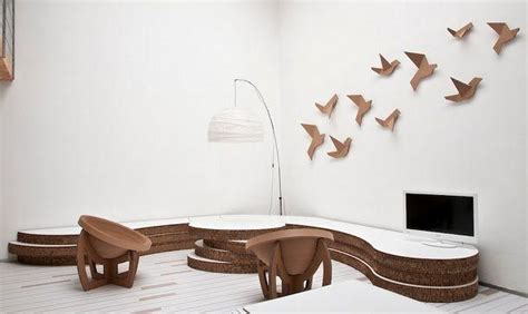 mobili in cartone riciclato arredi in carta e cartone
