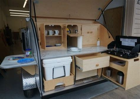 Cer Trailer Kitchen Designs Photos Of Galley Options Teardrops Etc Trailers Trailer Storage And Teardrop