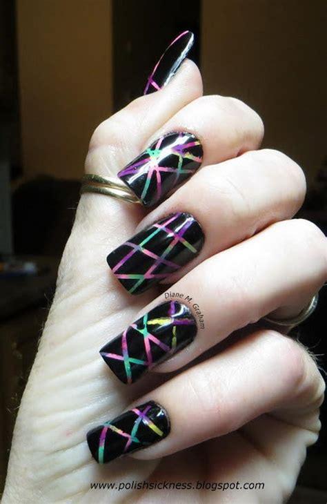 cool stripe nail designs hative
