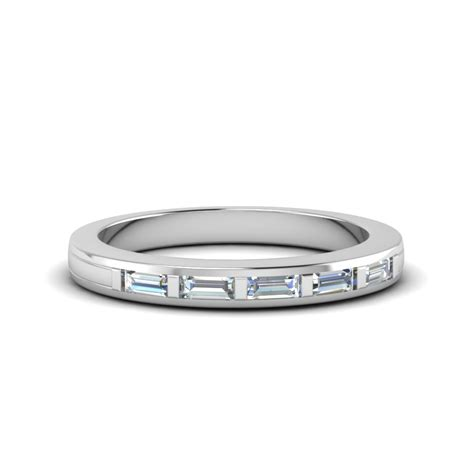Wedding Bands Baguette Diamonds by Baguette Wedding Band In 14k White Gold