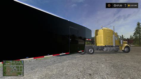 Or 2017 Trailer Fs17 Car Box Trailer V1 1 Fs2017 Farming Simulator 2017 17 Fs Mod