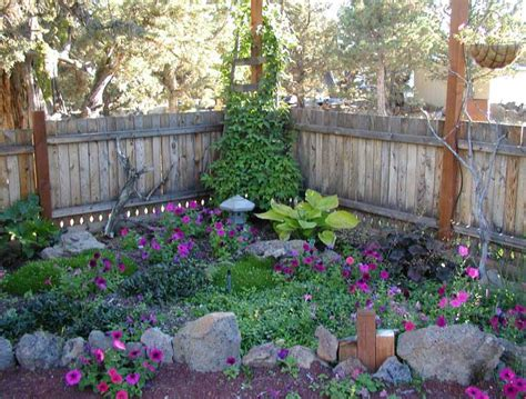 corner backyard landscaping ideas small shade garden design ideas with rock edging for plans