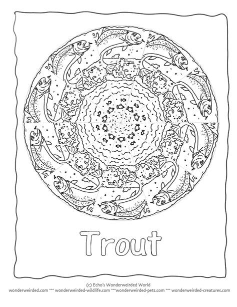 fish mandala coloring page fish mandala picture to color trout coloring page 2 here