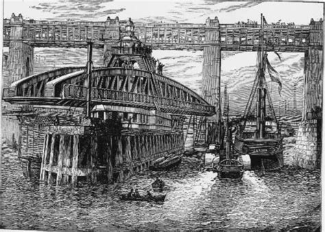 when was the swing bridge built this too will pass quot weel may the keel row quot