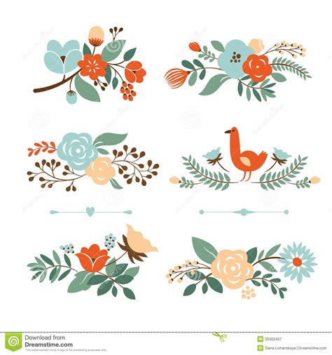 set of vector graphic elements royalty free stock photos set of botanical graphic elements stock image image