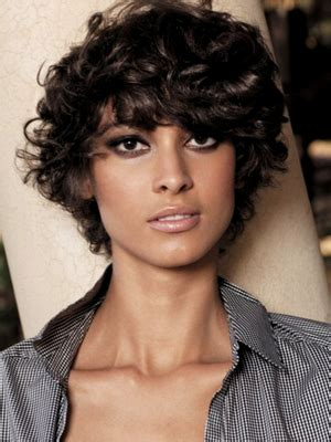 haircuts for naturally curly hair and round face gallery asymmetrical short curly haircut