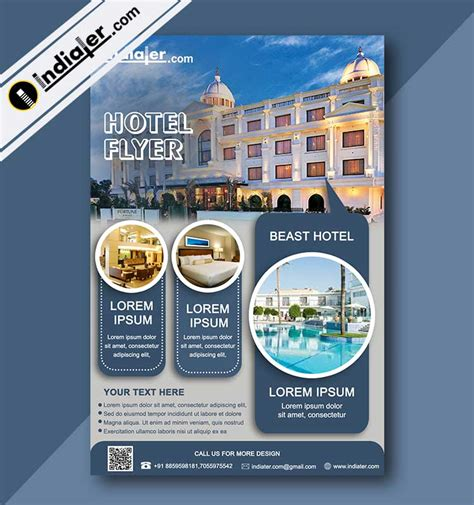Hotel Promotions Flyer Template V 2 Indiater Hotel Flyer Templates Free