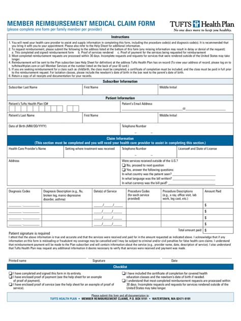 medical reimbursement form 6 free templates in pdf word