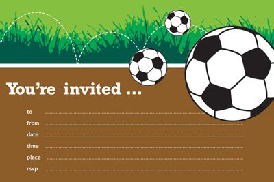 soccer birthday invitations ideas bagvania free