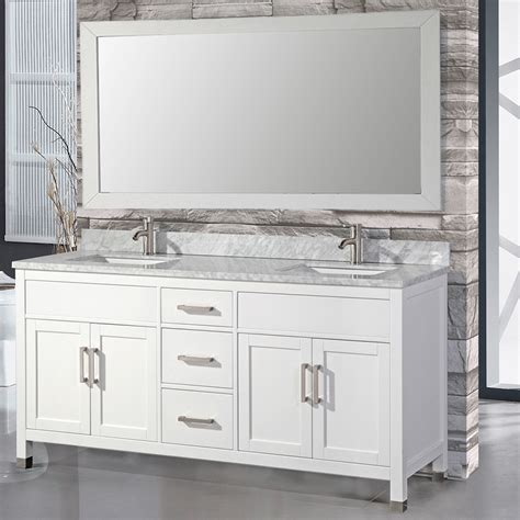 Mtdvanities Ricca 72 Quot Double Sink Bathroom Vanity Set With Bathroom Sink With Mirror