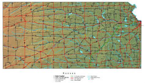 kansas road map state road map of kansas