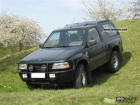opel frontera 1995 1995 opel frontera sport mistral car photo and specs