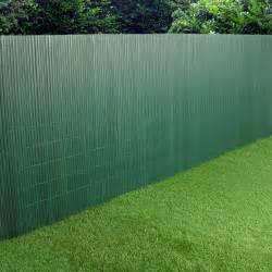 pvc garden fence plastic panel screen faced green