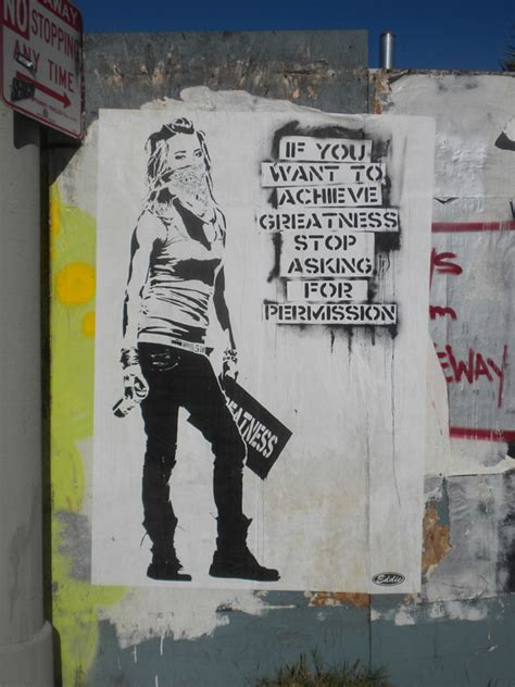 streetart     achieve greatness stop