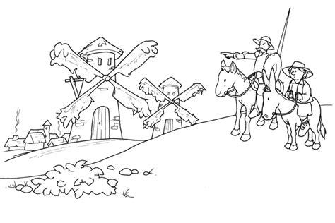 imagenes para colorear miguel de cervantes saavedra dibujos de don quijote de la mancha para colorear