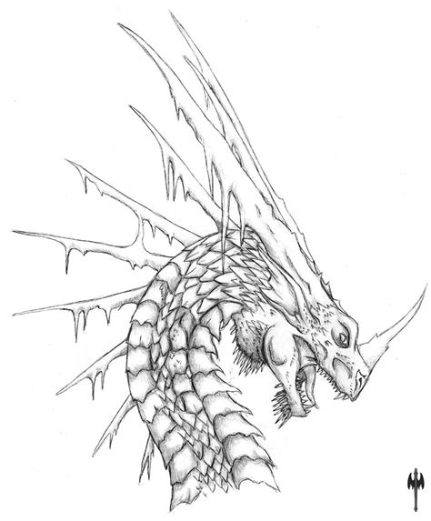 ice dragon coloring page ice dragon head scrap by sheranuva on deviantart