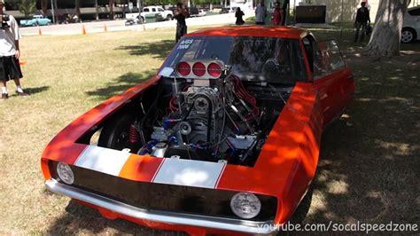 2012 camaro drag car loud 1969 camaro drag car revving and walkaround