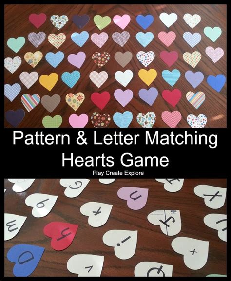 pattern matching cards 331 best images about valentine s day with kids on