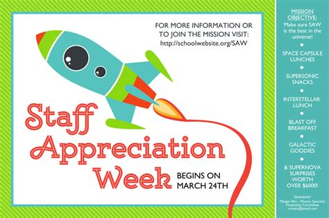 appreciation week 2014 letter to parents step one preparation space themed staff appreciation week